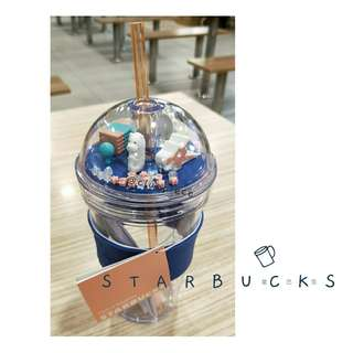 🚚 Starbucks Exclusive Merlion Dome Lid Cold Cup
