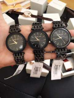 MK DARCI BLACK AUTHENTIC WATCH