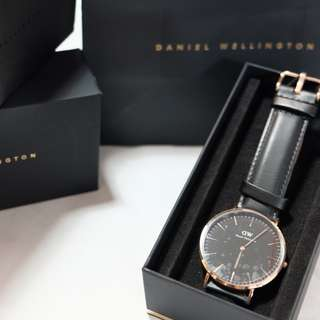 Authentic Daniel Wellington Classic Black 40mm Rose Gold (Original)