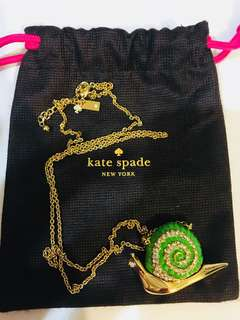 Kate Spade New York Lawn Party Snail Necklace