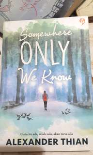 Novel Somewhere Only We Know karya Alexander Thian