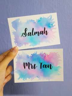 Personalised Watercolour Card