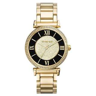 CATLIN BLACK DIAL GOLD-PLATED LADIES WATCH MK3338