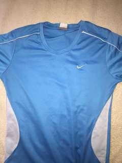 Nike drifit blue shrirt