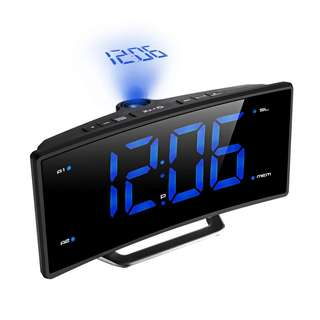 279.Projection Alarm Clock with FM Radio,