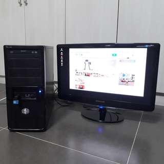 i3 Desktop with Samsung monitor