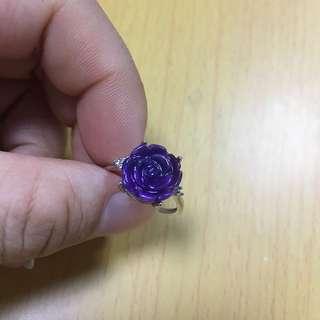 正品舒俱來玫瑰花雕刻戎指(戎指圈可隨意調整)