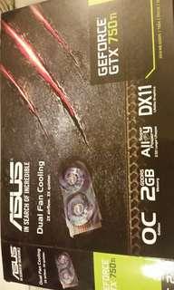Asus 750ti Dual fan 2G 加送網線!