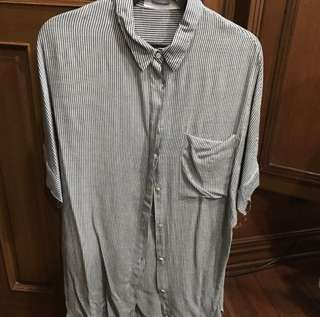 ❗️ SPECIAL PRICE 🌟 BRAND NEW Editor's Market gray and white striped short slee