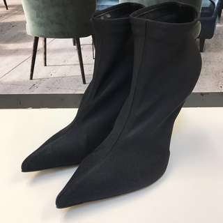 Balenciaga Satin Ankle Boot