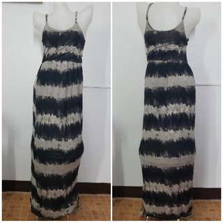 Black&Gray Maxi Dress