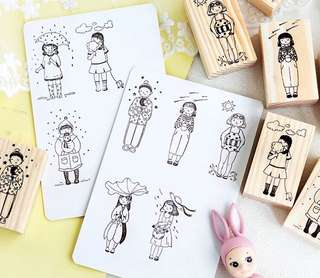 (PO) Daily Weather Wooden Stamp