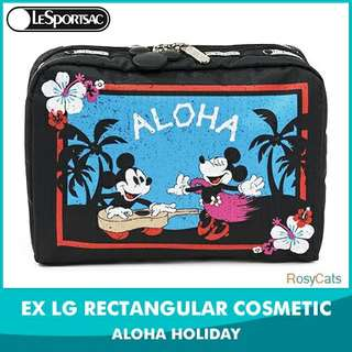 LeSportsac 限量 limited collaboration Mickey mouse Minnie cosmetic bag 化妝包 旅行包 aloha holiday