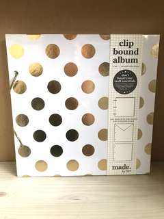 Typo clip bound album scrapbook notebook DIY