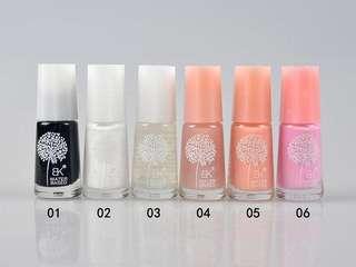 💄💎 BK Water Based Muslimah Metallic & Solid Colour Nail Polish