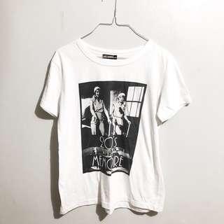Artwork Vintage White Shirt