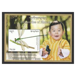 BHUTAN 2018 DRAGONFLIES OF BHUTAN (PRINCE) SOUVENIR SHEET OF 1 STAMP IN MINT MNH UNUSED CONDITION