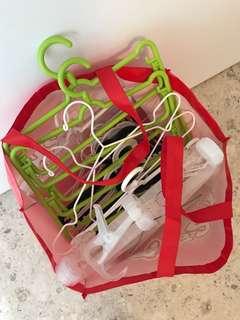 Bag of assorted hangers