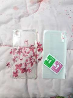 Anticrack Case & Tempered glass (anti gores)Oppo F1 Plus/R9