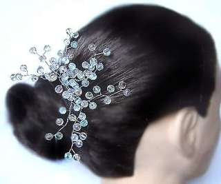 *Melimelo* All About Beads Rainbow Crystals Hair Pin Vine Wedding Bridal Hair Accessory