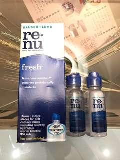 博士倫 renu fresh contact lens solution 隱形眼鏡藥水 con水
