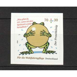 GERMANY 2018 WELFARE SEMI POSTAL THE FROG PRINCE COMP. SET OF 1 STAMP IN MINT MNH UNUSED CONDITION