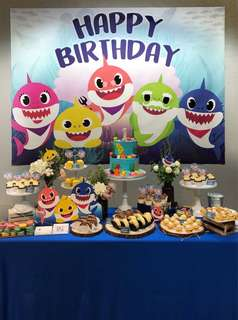 Customized backdrops for Birthday Parties