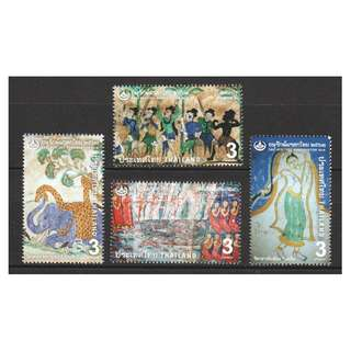 THAILAND 2018 THAI HERITAGE CONSERVATION MURAL PAINTINGS COMP. SET OF 4 STAMPS IN MINT MNH UNUSED CONDITION