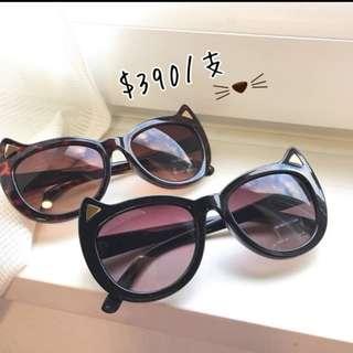 🚚 (日本連線購入) 貓咪造型墨鏡 太陽眼鏡