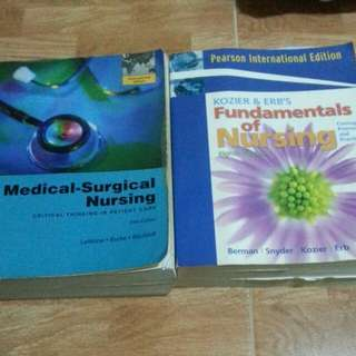1)Medical Surgical Nursing FIFTH EDITION Lemone|Burke|Bauldoff  2) Fundamentals Of Nursing EIGHT EDITION Berman|Synder|Kozier|Erb