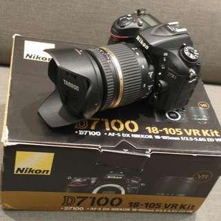 【出售】Nikon D7100 數位單眼相機 盒裝完整 9成新