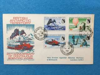 1969 British Antarctic Territory 25th Anniversary Of Scientific Work First Day Cover