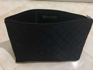 SM What Women Wear Black Quilted Pouch Bag