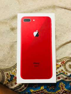 limited edition iphone 8 plus red with receipt and paperbag and complete accesorie