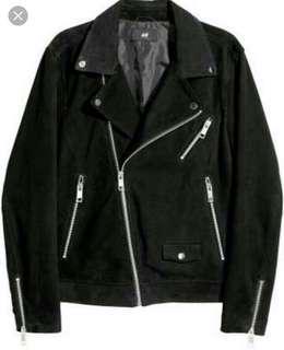 DICARI H&M Suede Biker Jacket size XS atau S