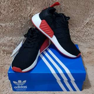 Adidas NMD R2 Black Red size 40 woman