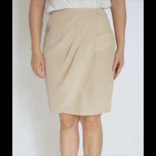 SALE...   (KS-1759) PERRE Drapery Skirt, Cream ( ORI )