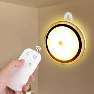 Wireless 5 LED Night Light Remote Control Lamp for Hallway Cabinet Closet