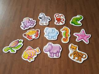 2 and 3 pc Animal Puzzles