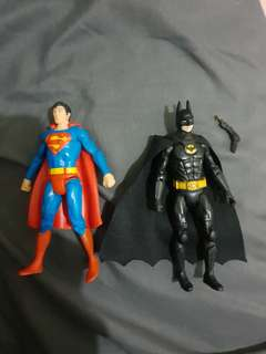 "4"" Batman and Superman"