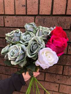 (SALE!) (PLEASE TAKE THEM) Green Roses with 3 Special Roses