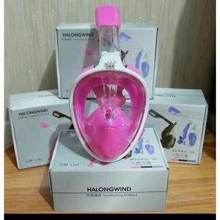 Fullmask Snorkel merk Halongwind ready warna Hitam
