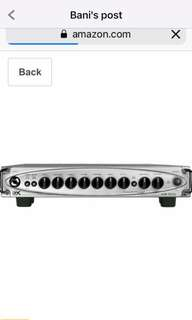 Selling a Gk MB 500 bass Head amplifier