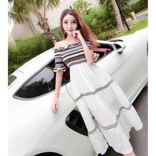 Houlder-Length Dress