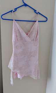 Glamorous light pink spaghetti strap top (size 8)