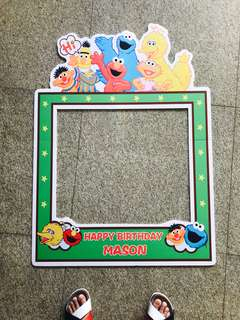 Mason Happy Birthday Sesame Street Selfie Photo Prop