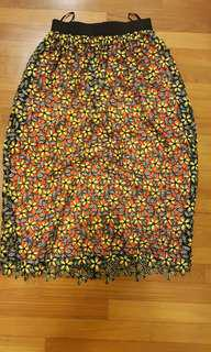 Self Portrait daisy skirt brand new uk 6