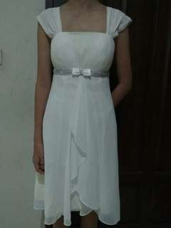 Flash salee...Party dress white