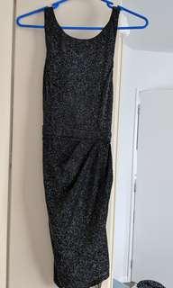 Evening black dress (size 8)