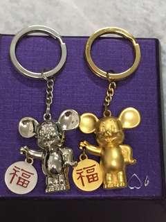 Rat year key chain